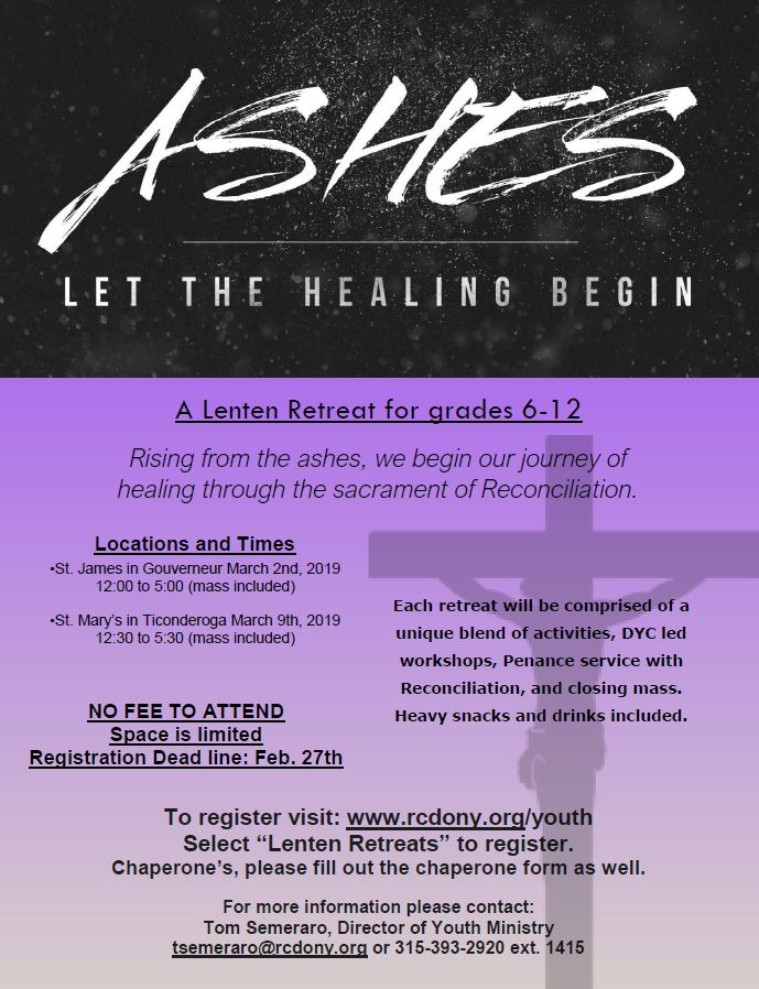 190114 youth lenten retreats